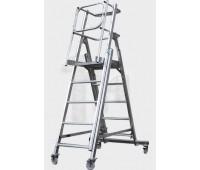 Телескопическая лестница-платформа с калиткой